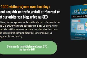De 0 à 1000 visiteurs/jours avec ton blog
