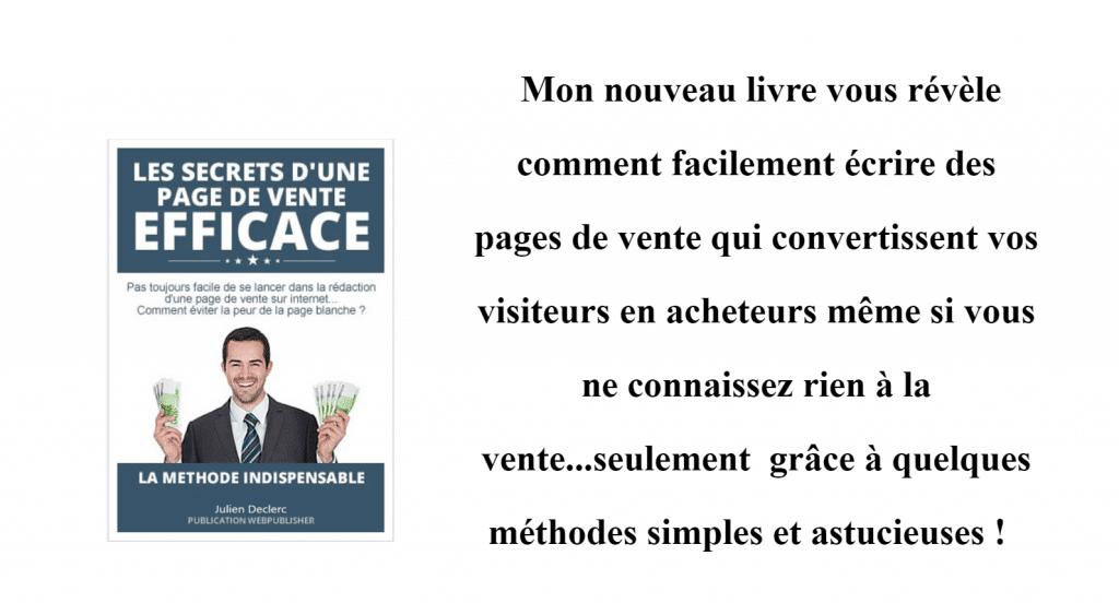 SECRET D'UNE PAGE DE VENTE EFFICACE