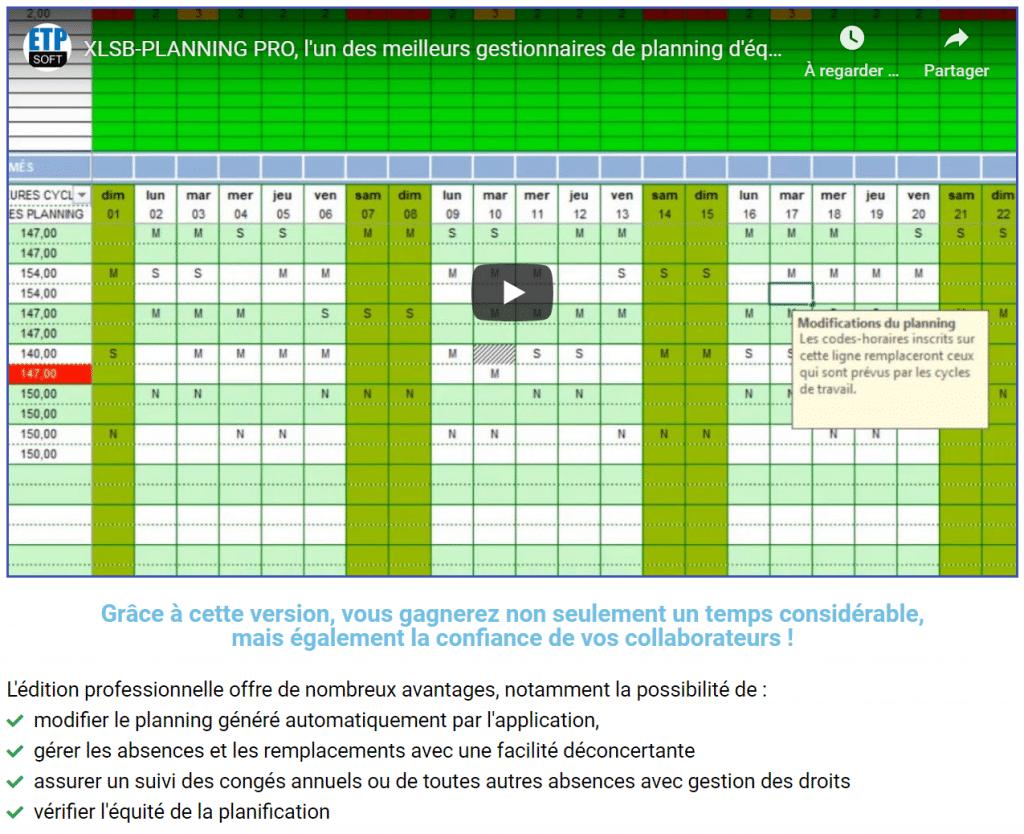 XLSB-PLANNING PRO (version Excel® binaire)