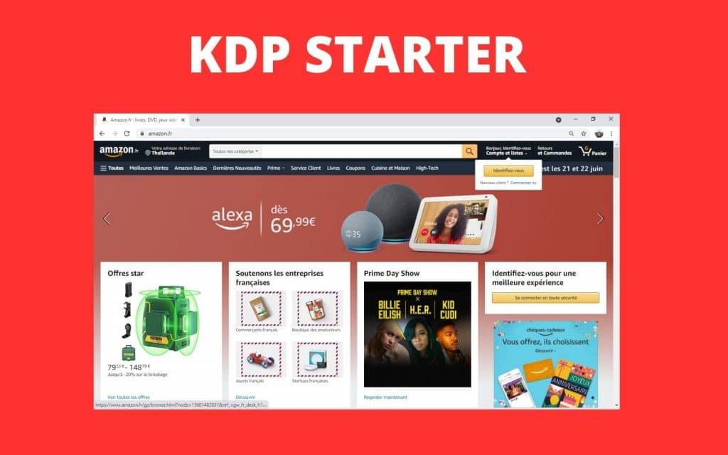 Business starter sans investissement avec Amazon KDP