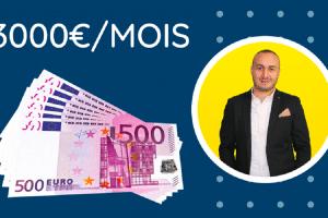 Gagner 3000€/MOIS sans investissement et devenir libre financièrement